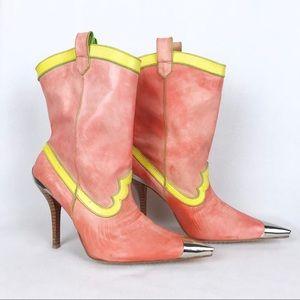 Dolce Vita | Orange/Yellow Silver CapToe Heel Boot